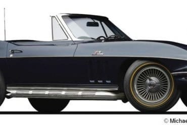 1966 corvette 427 roadster f3q
