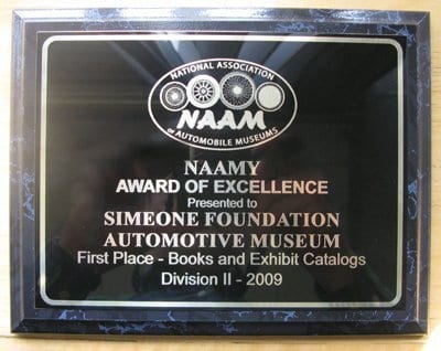 trophy 2009 naamy award of excellence book