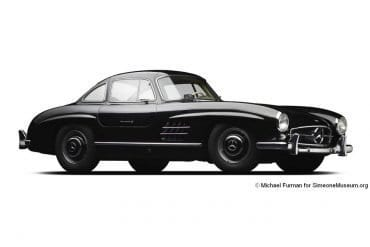 1956 Mercedes Benz 300SL Gullwing Coupe 1